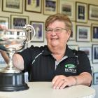 Bowls New Zealand events manager Helen Stallard holds the national lawn bowls championship men's...