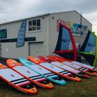Craig Latta from Watercooled Sports with the Fanatic inflatable paddleboards.