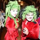 Scary hosts Pink (Nadya Shaw Bennett) and Biff Baff (Darrel Read) host a monster's ball at...