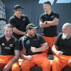 Kiwi Rail workers (from left:) Tyler Aitken, Hetaraka Kilgour, John Kenata, Sandy Schroder, John...