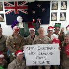 Lieutenant-colonel Cory Neale, of Balclutha, (back row, left), pictured  with other NZDF...