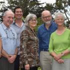 Conservation Minister Eugenie Sage (centre), at Glenfalloch Woodland Gardens, announces funding...