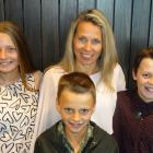 Minna Ruski-Jones and her three children, from left, Ruby (15), Ollie (10) and Axel (12). PHOTO:...