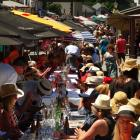 About 600 diners lined the length of Arrowtown's main street during the town's annual Long Lunch...
