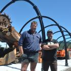 Dwayne Solly, left, and John Ewen are helping with a Rapahoe community project to create their...