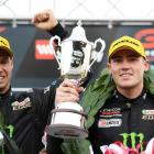 Richie Stanaway (right) after winning the Sandown 500 with team mate Cameron Waters. Photo: Getty...