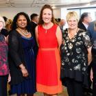 Agri-Women's Development Trust Escalator graduate Anne-Marie Wells (left) with (from left) Otago...