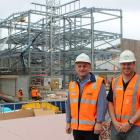 Faculty of Dentistry clinical services building project director Danny Tessier (left) and project...