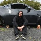 Westwood resident Simon Little is upset the wheels from his written-off Nissan have been stolen....