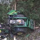 The tractor that rolled on a Nelson Creek farm on the West Coast, injuring a toddler in the...