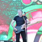 Roger Waters on stage at Forsyth Barr Stadium in Dunedin last night. Photo Gregor Richardson