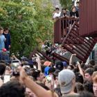 The broken balcony. Photo: ODT files