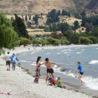 It was warm and windy in Wanaka yesterday, and the town is expecting a run of hot days. Photo...