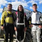 Erskine family members and speedway competitors Andy and his children Keely and Lucas Erskine get...