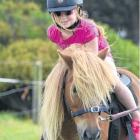 Saddled up . . . Molly Walker (then 4) takes a pony ride at last year's gala. FILE PHOTO: OTAGO...