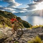 Wanaka multisport athlete Braden Currie (front) will be hoping to defend his Red Bull Defiance...