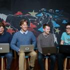 The team at Code Lingo. Photo: NZ Herald / Supplied