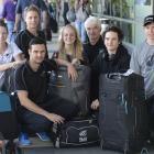 New Zealand curling representatives Jessica Smith, Ben Smith, Simon Neilson, Mhairi-Bronte Duncan...