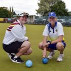 Ashleigh Jeffcoat (18) and  Katelyn Inch check out the Taieri greens in preparation for their...