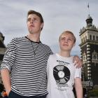Travis (left) and Ethan von Metzinger who are being deported back to South Africa after 9 years...