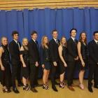 The members of both men's and women's New Zealand under-21 curling teams at the world...