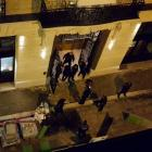 A general view of the scene after axe-wielding robbers stole jewelry at the Ritz Paris hotel in...
