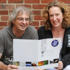 Otago University Advanced School Science Academy director Steve Broni and academy science...