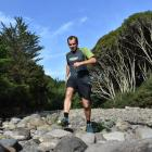 Scott Payne trains over a rocky course in Whare Flat. Photo: Wayne Parsons