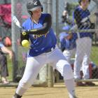 Otago co-captain Kaitlyn Hastie lets one go past while batting for Otago against North Harbour at...