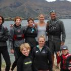 Some of the Wanaka team who took part in the Windshift Camp this week. From left are Stellar...