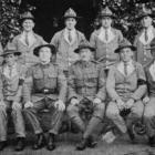 Sergeants of the Third Battalion, N.Z. Rifle Brigade, at Grey Towers, Hornchurch, England, on...