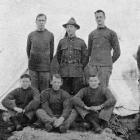 Otago boys at the C1 camp. Standing (from left), Privates H. Shadwell, F. Roberts, Sergeant-major...