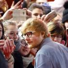 Ed Sheeran arrives for the screening of the movie 'Songwriter' at the 68th Berlinale...