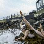 Performer Regina Hegemann emerges from the elements for Elemental. PHOTO: SUPPLIED