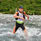 James Munro races through water in Interception Valley on Day 1 of the two-day Coast to Coast on...