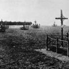 These graves on the scene of a Western Front battle of a year ago are in the charge of the...