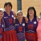 Tutus on Tour members (from left) Linda Massie, Lynn Brand, Marinda van Vuuren, Frankie Sanders,...