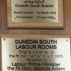 The plaque that had Prime Minister Jacinda Ardern's name misspelled. Photo: Linda Robertson