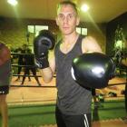 Queenstown's Richie Hadlow training at the Industrial Fitness Gym & Fight Club this week....