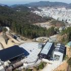 An aerial photograph of Skyline Enterprises' $20million  Skyline Luge Tongyeong development in...