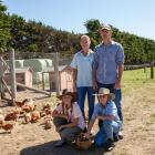 Being sustainable is one of the goals for Michelle and Daniel Power and their daughters Jess and...