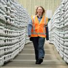 New Zealand's Aluminium Smelter Ltd general manager Gretta Stephens in the metal yard at Tiwai...