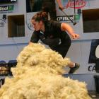 Cheri Peterson, who had her first Open-class woolhandling win on Friday at the Southern Shears in...