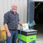 Innovation Hives owner Peter Dodds with one of his hives which was awarded second place in the...