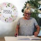Made & Found co-owner Sue Williams at work in Mosgiel on Sunday. PHOTO: SHAWN MCAVINUE