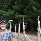 Tuki Festival event manager  Toby Garland stands in front of the forest where festival-goers will...