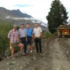 Work kicked off last week (from left) Murray 'Muz' McBain, Kerry Dunlop, John Thompson and Mark...