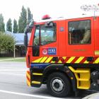Fire and Emergency New Zealand respond to a call at the Alexandra Police Station. Photo: Tom Kitchin