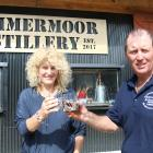 Susan and John Elliot toast to the opening of the Lammermoor Distillery on their farm in the...