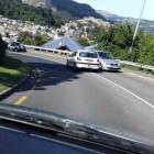A still from a video shot by Dunedin man Richard Mountain which shows another motorist repeatedly...